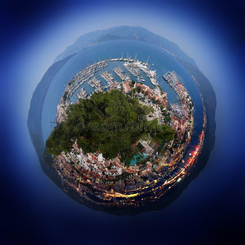 Kleine wereld van de stad. royalty-vrije stock foto