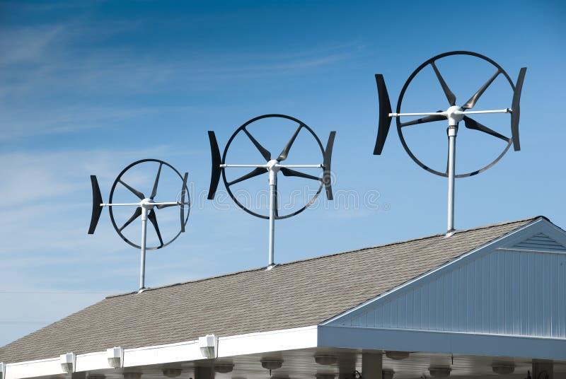 Kleine windturbines royalty-vrije stock foto