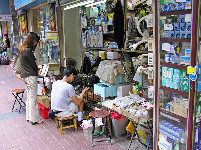 Kleine winkel in Hong Kong royalty-vrije stock foto