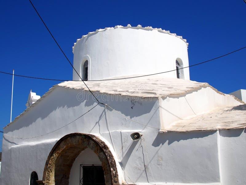 Kleine Witte Griekse Kerk, Skyros, stock afbeelding