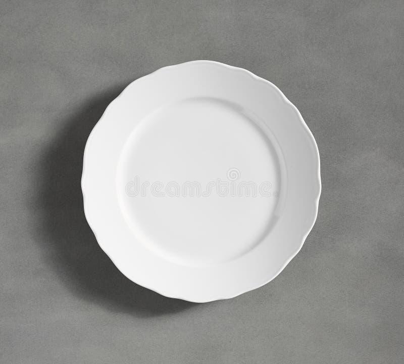 Kleine witte kom - de Eenvoudige Inzameling van het Schetsvaatwerk - Beeld stock afbeelding