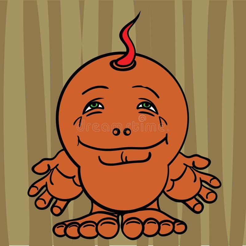 Kleine Zeichnung ein verärgertes Monster vektor abbildung