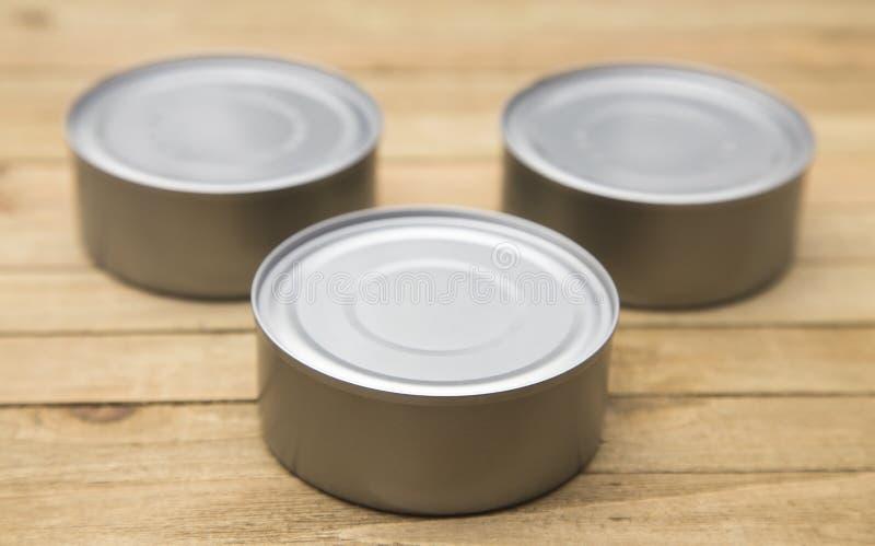 Kleine Zilveren Blikken royalty-vrije stock afbeelding