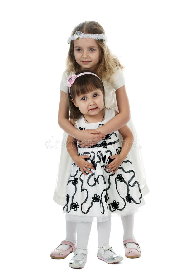 Kleine zusters royalty-vrije stock afbeeldingen