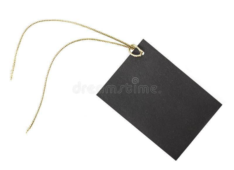 Kleine zwarte document etiquette stock fotografie