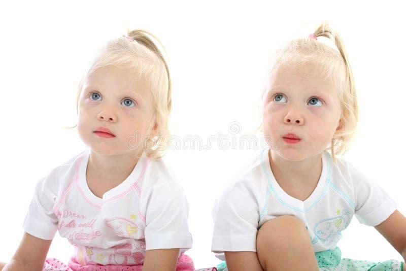 Kleine Zwillinge lizenzfreie stockbilder