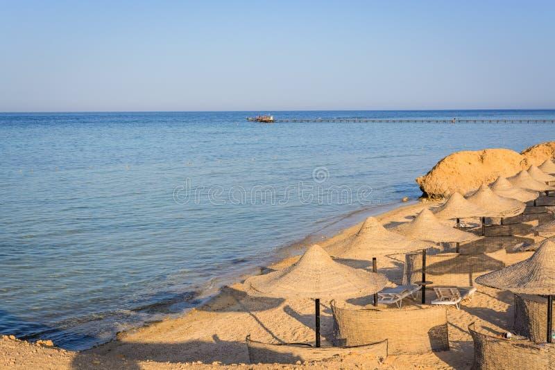 Kleiner ägyptischer Strand stockfotos
