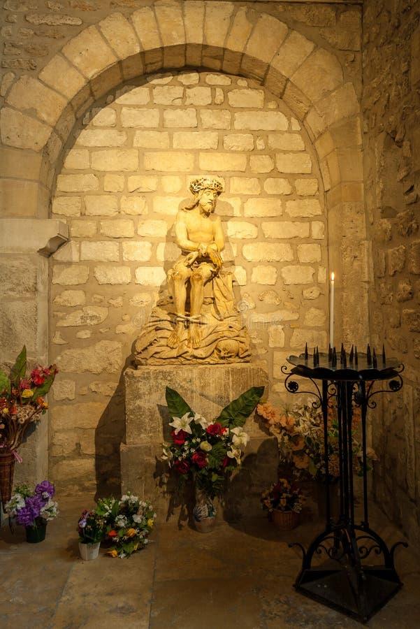 Kleiner Altar in der Kathedrale in Reims lizenzfreie stockfotografie