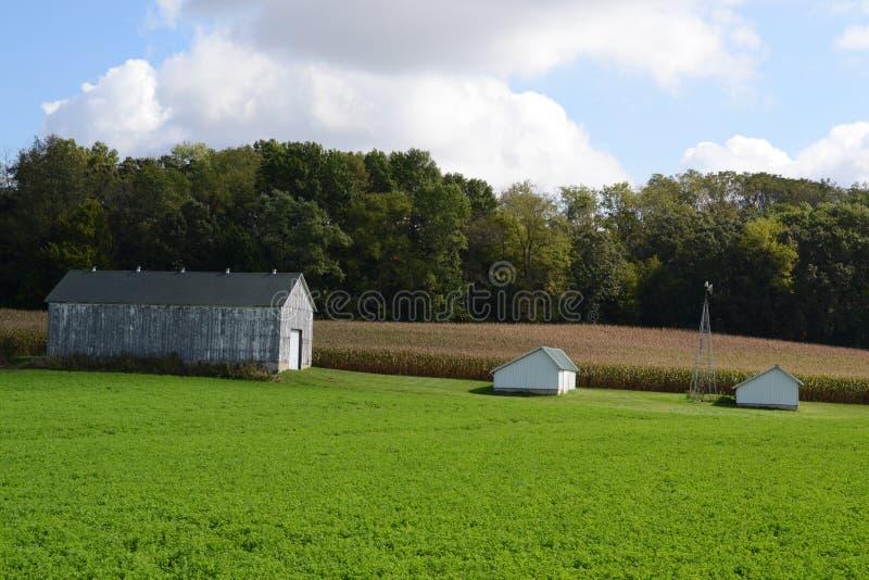 Kleiner Bauernhof in Wisconsin lizenzfreie stockbilder