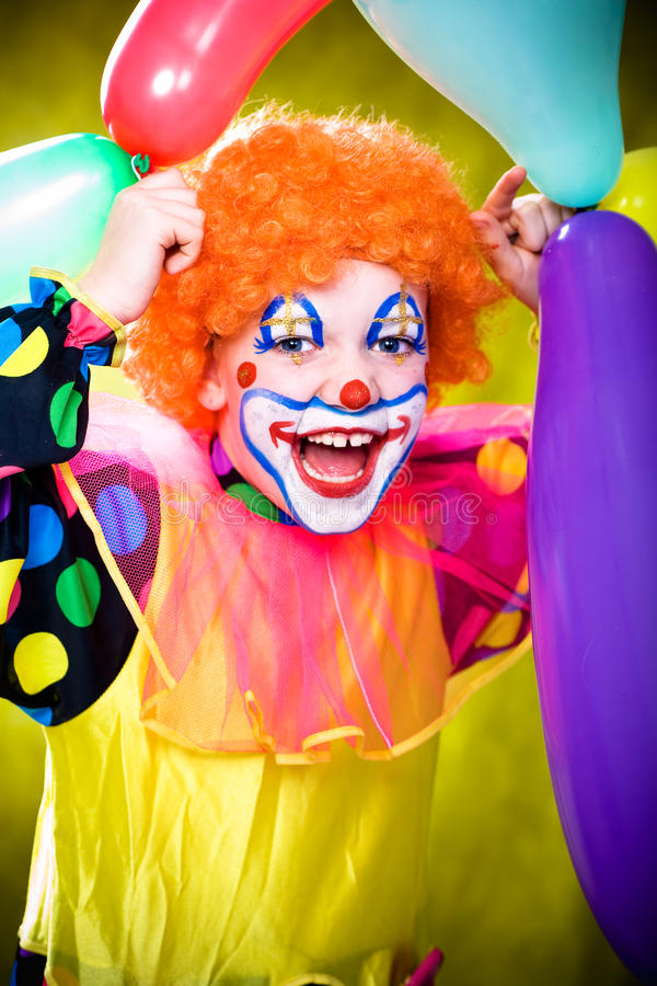 Kleiner Clown stockfoto