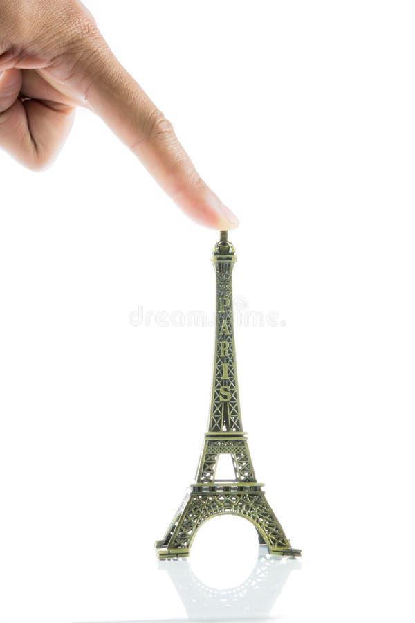 Kleiner Eiffelturm lokalisiert stockfotos