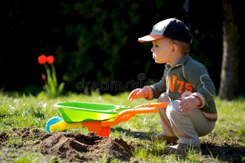 Kleiner Gärtner stockbild