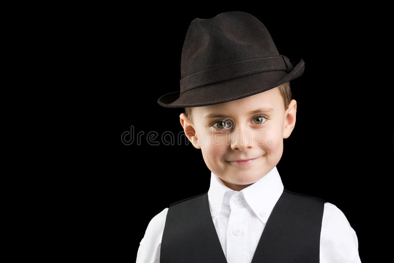 Kleiner Gangster stockfoto