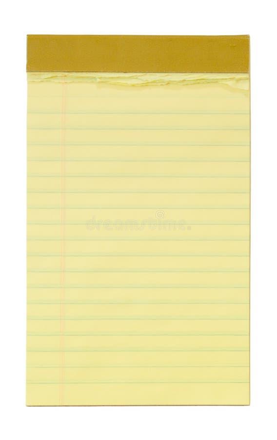 Kleiner gelber gezeichneter Notizblock stockbilder