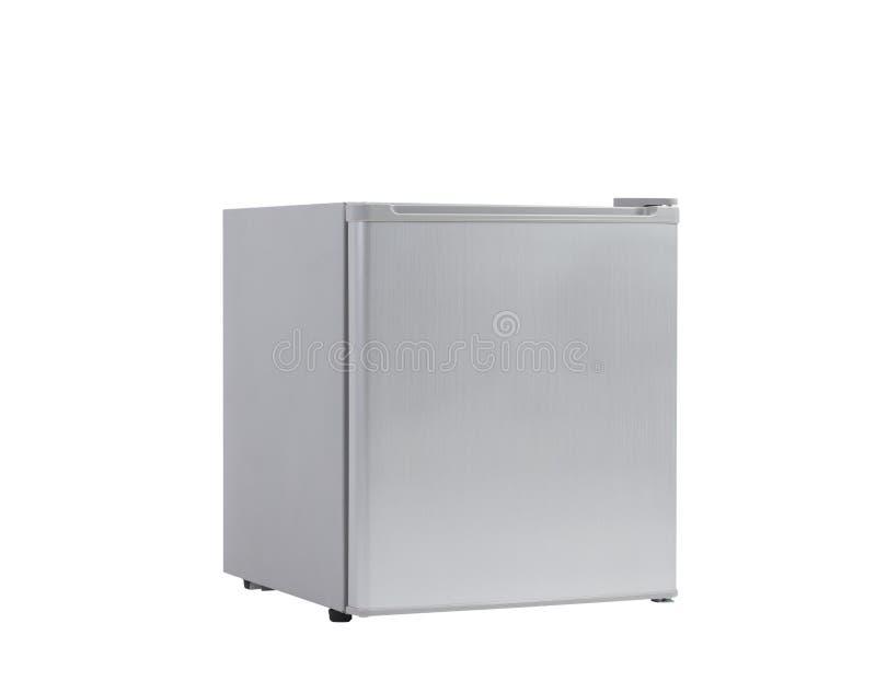 Kleiner grauer Kühlschrank stockfoto. Bild von frost - 34203238