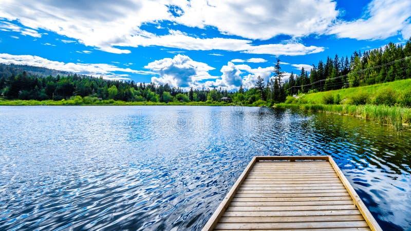Kleiner Heffley See in der Shuswap-Region des Britisch-Columbia, Kanada lizenzfreie stockfotos
