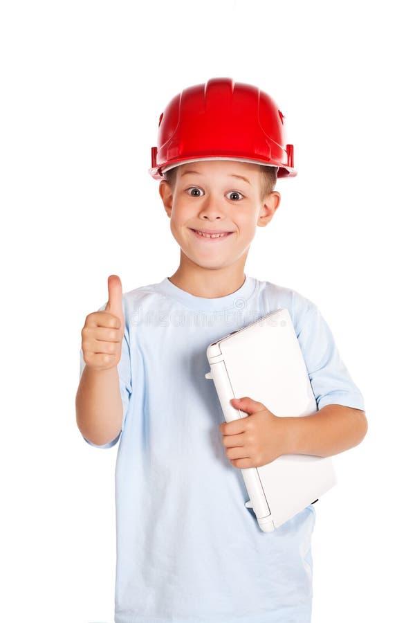 Download Kleiner Junge Mit Anmerkung Stockfoto - Bild von menschlich, beruf: 26365612