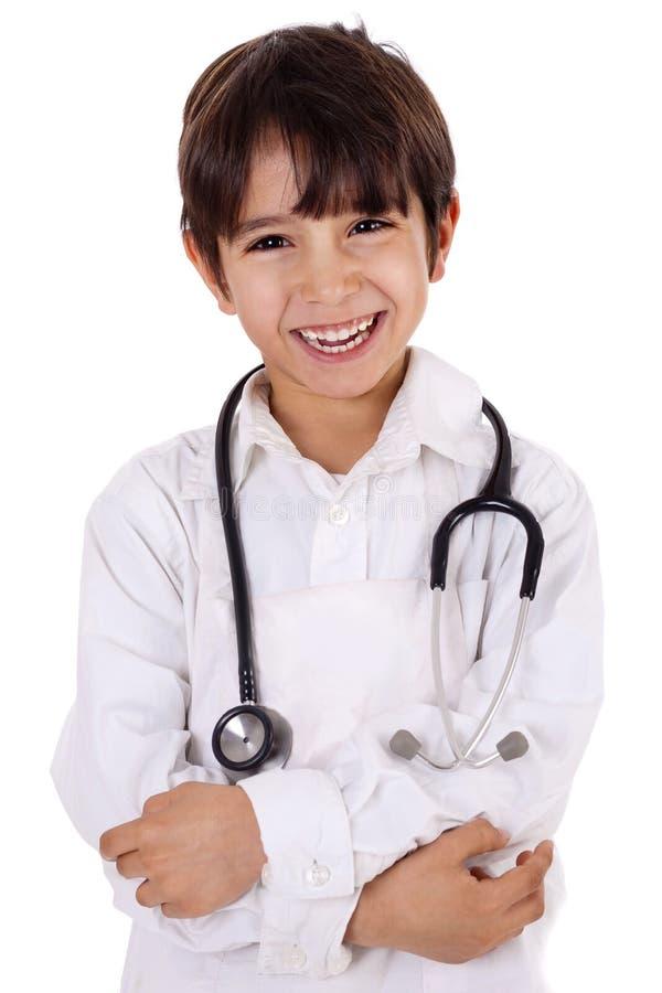 Kleiner junger Jungendoktor stockfotos