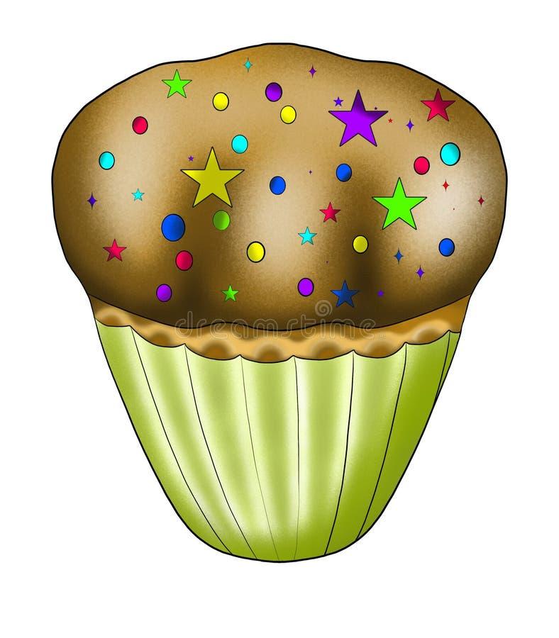 Kleiner kleiner Kuchen stock abbildung