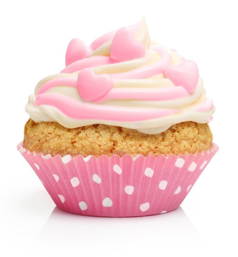 Kleiner Kuchen mit Buttercreme und -himbeere lizenzfreie stockfotografie