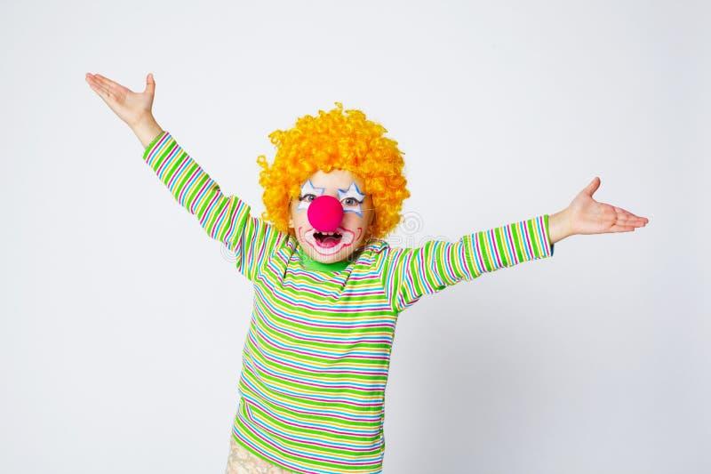 Kleiner lustiger Clown stockfoto