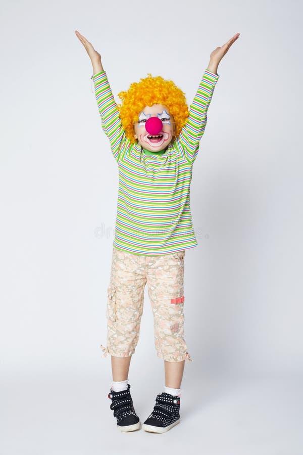 Kleiner lustiger Clown stockbilder