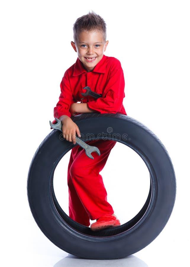 Kleiner Mechaniker lizenzfreies stockfoto