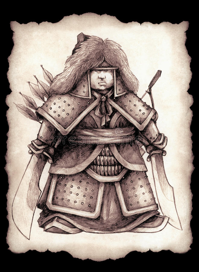 Kleiner mongolischer Prinz stockbild