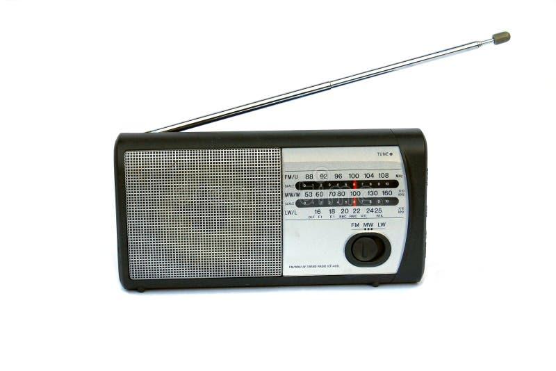 Kleiner Radio lokalisiert auf Weiß lizenzfreies stockbild