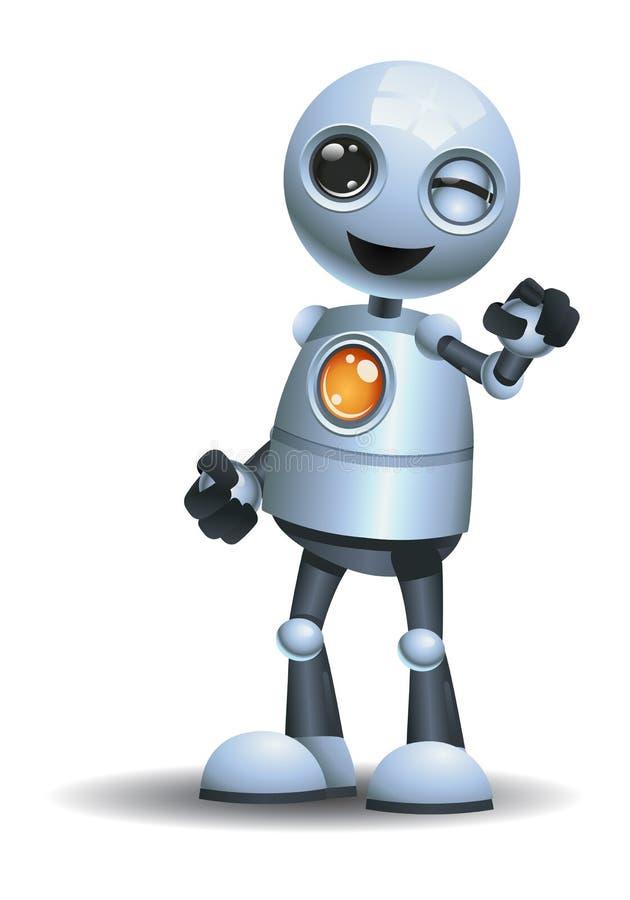 kleiner Roboter blinzeln Auge an Ihnen lizenzfreie abbildung