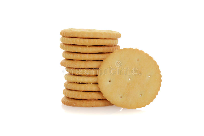Kleiner runder Cracker stockbilder