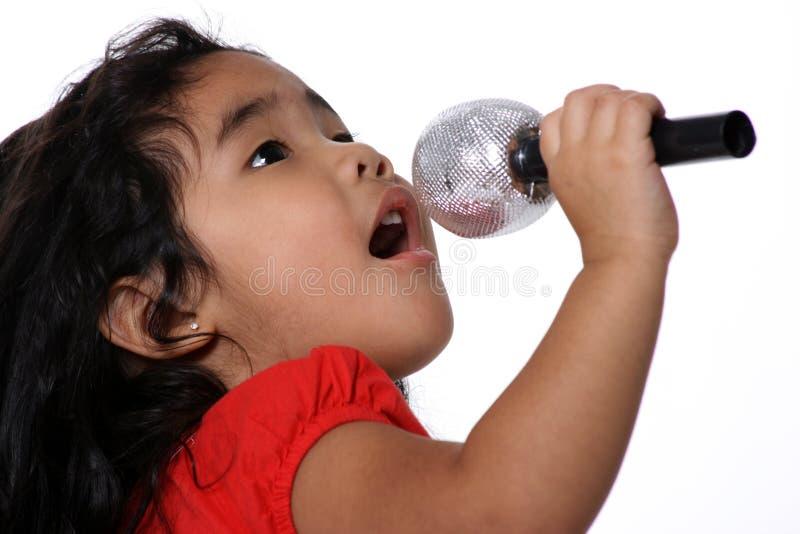 Kleiner Sänger lizenzfreie stockbilder