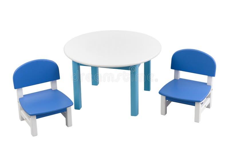 Kleiner Schreibtisch und Stühle stockbild