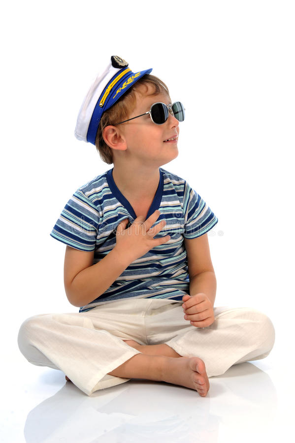 Kleiner Seemann stockbild
