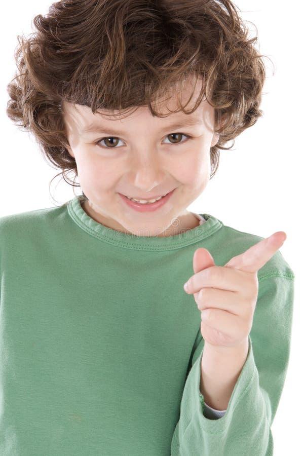 Kleiner stattlicher Junge lizenzfreies stockfoto
