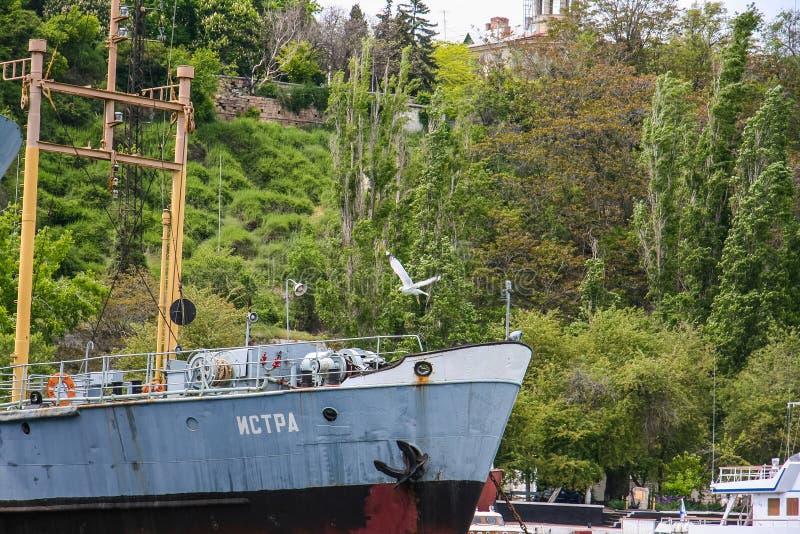 Kleiner Tanker des Trophäenschiffes See stockfotografie