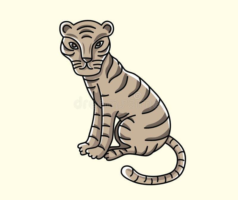 Kleiner Tiger Illustration, Kunstvektordesign lizenzfreie abbildung