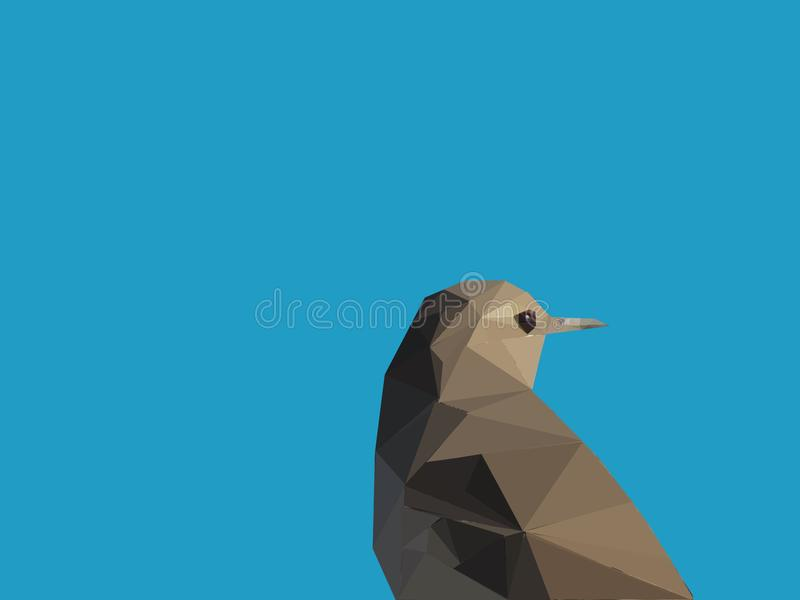 Kleiner Vogel niedrig Poly stockbild