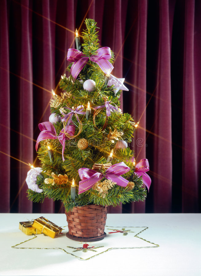 Download Kleiner Weihnachtsbaum stockfoto. Bild von dekoration, feiertage - 28510