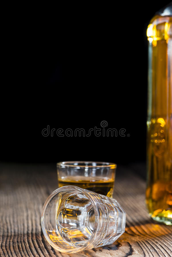 Kleiner Whiskyschuß lizenzfreies stockfoto