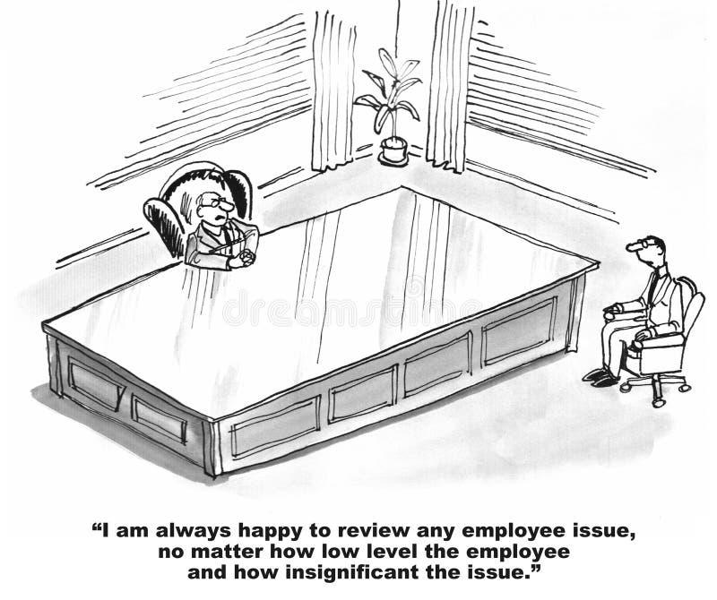 Kleinerende Werkgever royalty-vrije illustratie