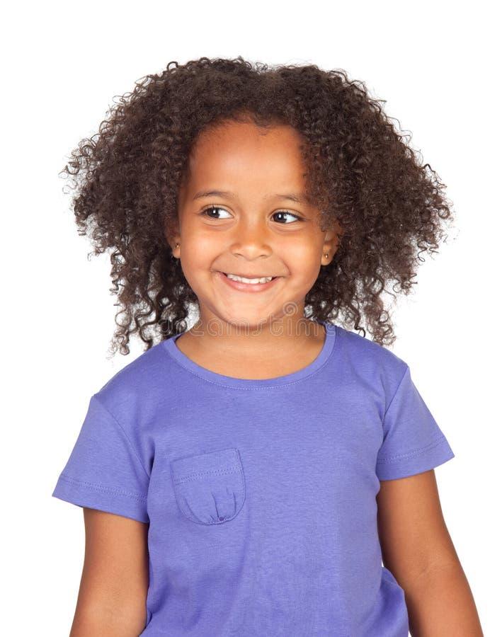 Kleines afrikanisches Mädchen mit einem schönen Ausdruck stockfoto