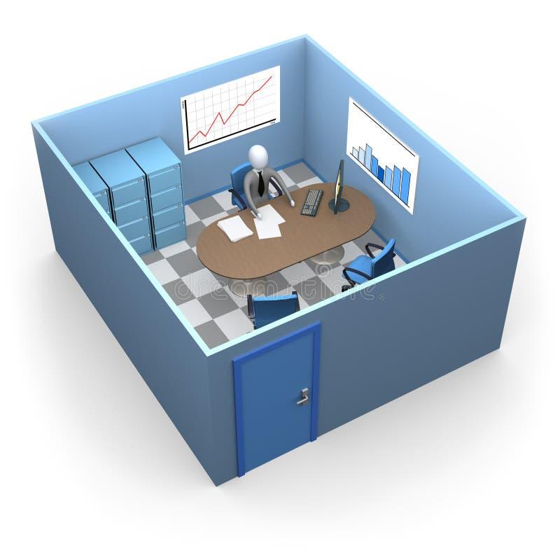 Kleines Büro stock abbildung