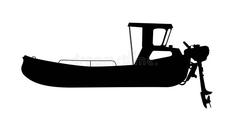 Kleines Bewegungsboot lizenzfreie abbildung