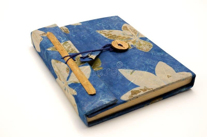 Kleines blaues Tagebuch lizenzfreie stockfotos