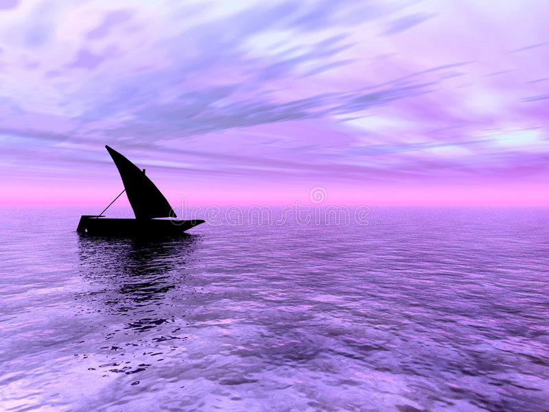 Kleines Boot stock abbildung