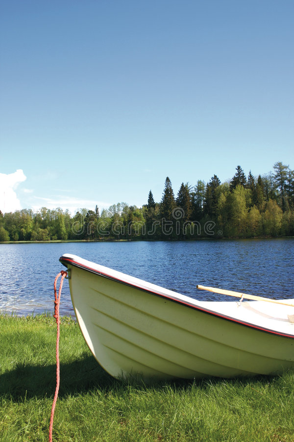 Kleines Boot Finnland lizenzfreies stockbild