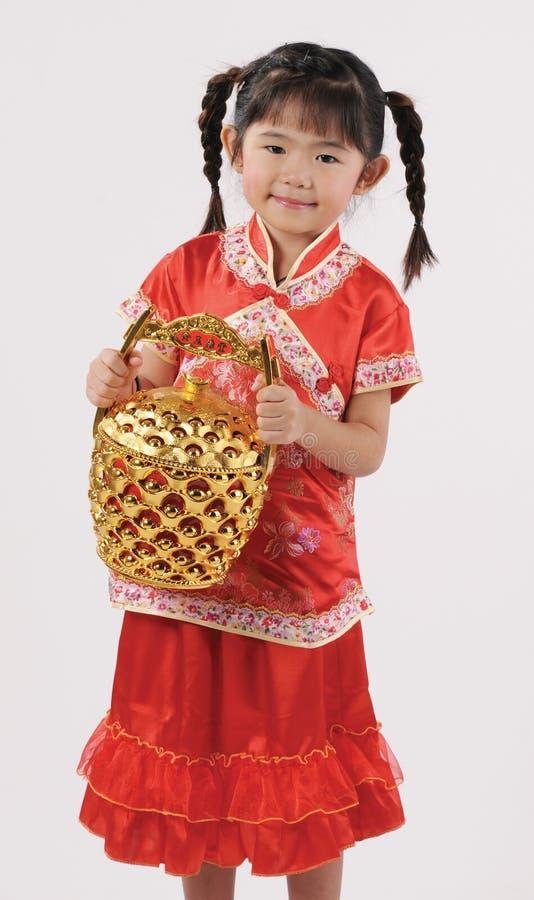 Kleines chinesisches Mädchen stockfotografie