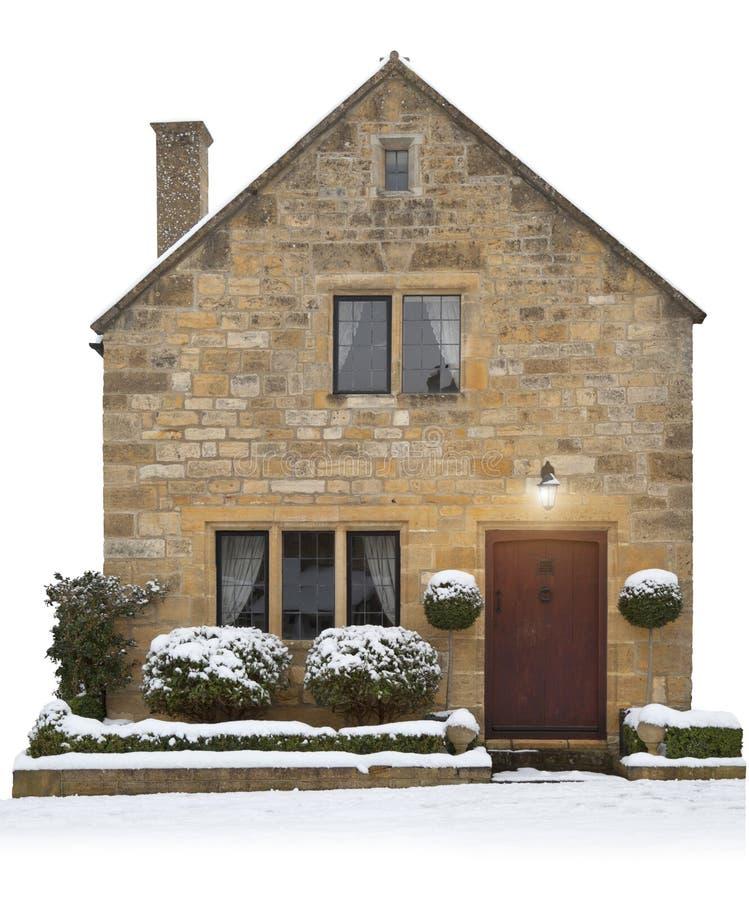 Kleines Cotswold-Häuschen, England stockbilder
