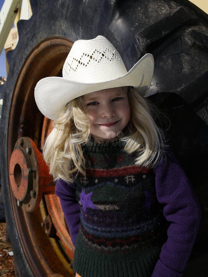 Kleines Cowgirl lizenzfreie stockfotografie